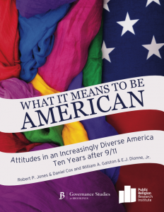 PRRI 2011 What it Means to Be American cover