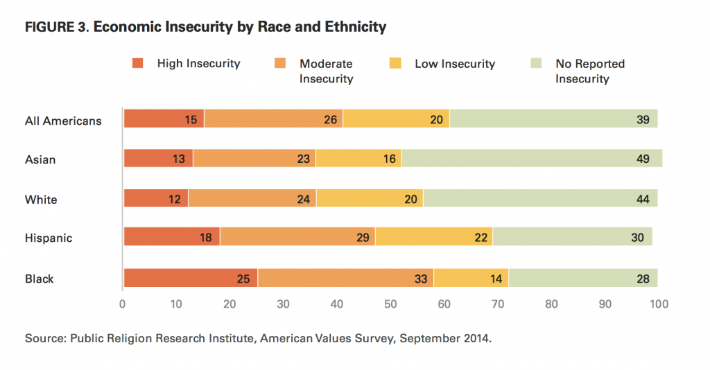 PRRI AVS 2014 economic insecurity by race